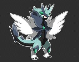 COMMISSION FAKEMON WAVERN REDESIGN by fer-gon
