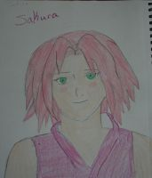 Sakura almost colored by Trissacar