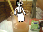 Ulquiorra and a glass of juice by TechieSparksOfficial
