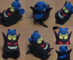 FIMO Gengar and Spheal by L-I-F-F-Y