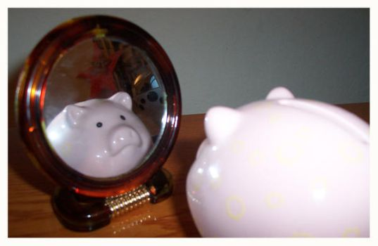 piggy bank by maybeiamadreamer