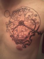 Steampunk compass outline I.T.F by Tattoo-Design
