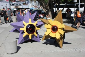 Starmie and Staryu debuting at AX 2016 by d-slim