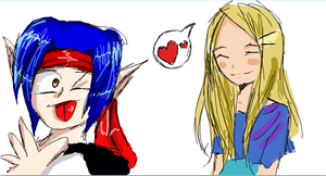 iScribble: Bellator and Ayame by Aii-luv