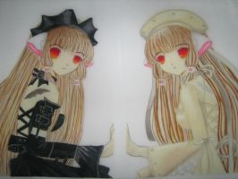 Freya and Chii from Chobits by PrettyLiittleMoon