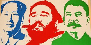 communist mao castro stalin by eastvandals