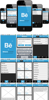 Behance Network iPhone app by phinik