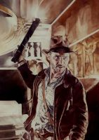 Raiders of the lost Ark (oil painting) by CiaraMcAvoy