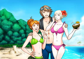 MM: Beach Bonding! by lacelazier