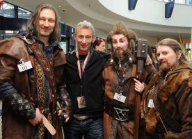 Kili, Jed Brophy, Nori and Fili at HobbitCon by Lady--Eowyn