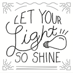 Let Your Light Shine - Free lettering by Emberblue