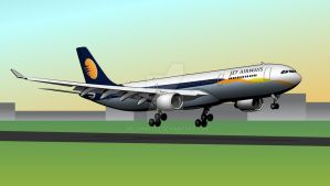 Airbus A330-300 - Jet Airways livery by ArjunM0102