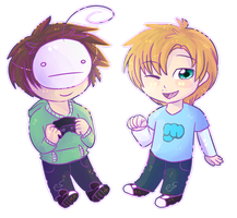 PewdieCry Chibis by CascadingSerenity