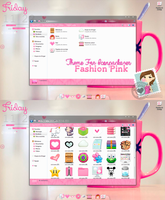 Theme for iconpackager FashionPink by ChokoPink