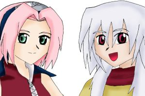 Sakura and Mithos by WindyRen