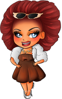 RuPaul's Drag Race - Season 7 - Ginger Minj by DRussellArt