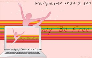Only be Free Wallpaper by Coby17
