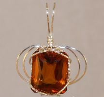 32 CT Madeira Citrine Pendant by skezzcrom