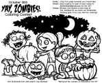 Zombie Coloring Contest by jbrenthill