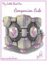 My little Bad Ass Companion Cube by Amelie-ami-chan