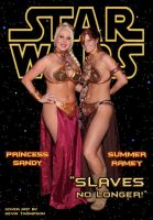 Sandy and Summer as Slave Leia by KustomKomiks