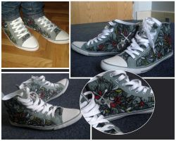 my painted shoes by nanuki