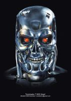 T-800 Head by metalkid