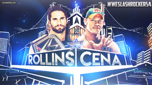 WWE Summerslam 2015 - Rollins (c) vs Cena by WWESlashrocker54