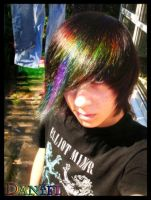 SelfPortrait - RainbowHair by DannyAtrophy