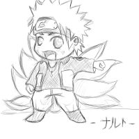 Naruto-The ninetailed fox- Chibi by LizzyxAkatsuki