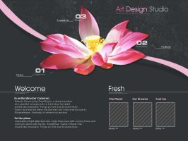 "Webdesign - ""Fresh Art"" by CybertronicStudios"
