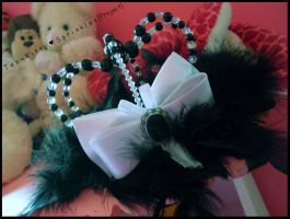 Beaded Lolita Crown w- Bow by Kitty-Sprinkles