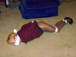 Executive Miss Winters bound and gagged by THEDARKABDUCTOR