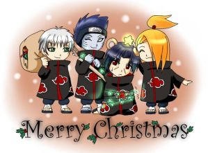 Blagues et Histoires droles. - Page 2 Merry_Akatsuki_Christmas_by_LadyUsada