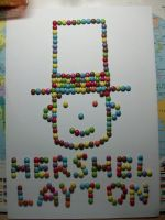 Layton made with Smarties by kenabe