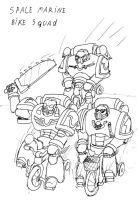 Space Marines : Bike Squad by ignika24