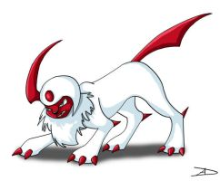 Shining Absol by DarkFeather
