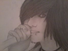 Andy Biersack Drawing 2 by SammieSparxx