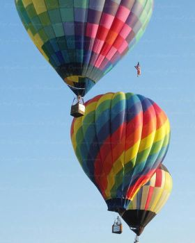 Trio of Colorful Hot Air Balloons by Cillana