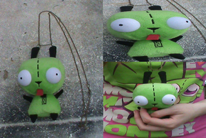 Invader Zim-Custom GIR Plush Necklace For Sale by KrazyKari