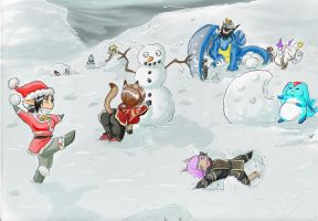 Snowball Fight by FFXI-Artico