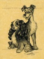 Lady and the Tramp by pat-mcmichael