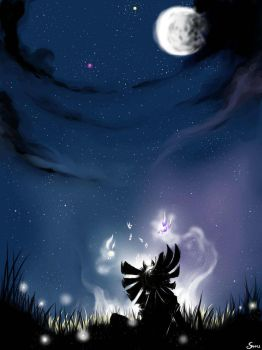 Skull Kid in the night.... by LaPetiteTriforce