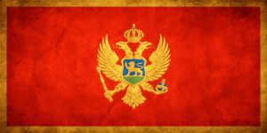 Montenegro Grungy Flag by think0