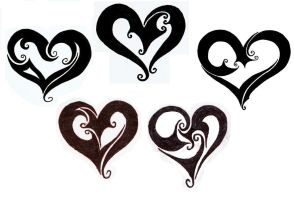 Heart Tattoo Designs by trinity-lea