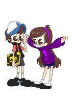 Dipper and Mabel by Blitzkrieg1701