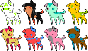 Adoptable puppies by alinoravanity