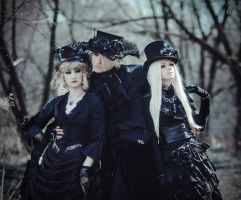 Dark goth trio by SelenaAdorian