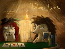 Poker Faces by Scahedrii