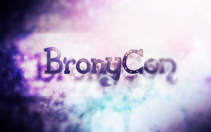 BronyCon Logo Wallpaper by SandwichDelta